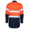 Picture of 100% Cotton Two Tone Long Sleeve Reflective Work Shirt