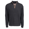 Picture of Fine Gauge Cable Knit 1/4 Zip Jersey